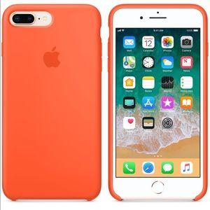 Apple silicone IPhone 7 Plus Spicy Orange case